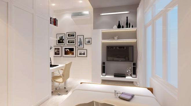Sơn tường nhà màu trắng sứ